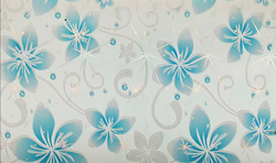 Wall Jazz White And Sky Blue  Eco Series PVC Wall Panels