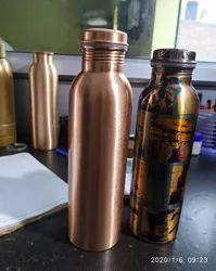 Standard Polished Pure Copper Water Bottle