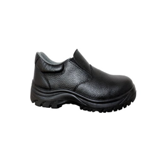 Ecosafe Black Slip On Shoe, Packaging Type: Box