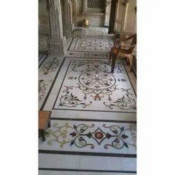 Indoor White Marble Inlay Work
