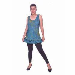 Ladies Casual Printed Sleeveless Top