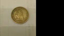 Yellowish Shri Mataji Vaishno Devi Shrine Board, Indian Coin