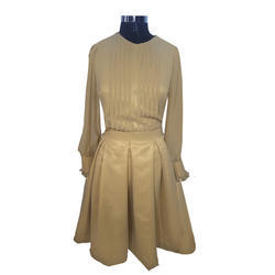 Girls Golden Party Wear Dress