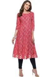 Ladies Anarkali Cotton Kurti