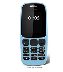 Nokia 105 Blue Phone