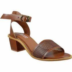 Women Tan Heels Sandals