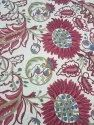 Lucky Red Multi Color Big Floral Design Upholstery Fabric