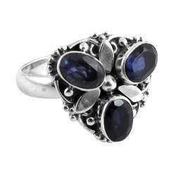 Fine Iolite 925 Sterling Silver Ring