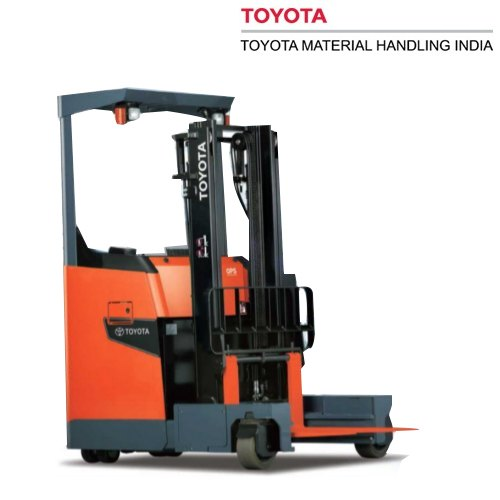 Toyota 8FBS15 1 5 Ton Stand Up Battery Reach Truck, रीच ट्रक
