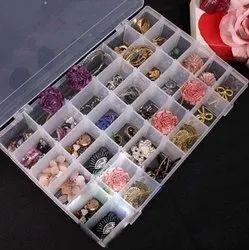 Plastic Adjustable Multipurpose Storage Organizer Box (1.00_Transparent)