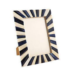 Royal Artisans Black & White Resin Picture Frame