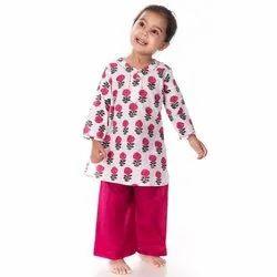 Kids Kurti Pajama Set