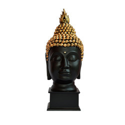 Black Color Buddha Head Statue