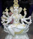 Lakshmi Ganesh Marble Statue