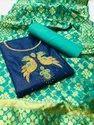 "Heavy Pc Cotton Handwork Dress Material, Width: 44-45"""