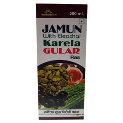 Alantra Jamun With Eleachai Karela Gular Ras, Packaging Type: Bottle, 50 LTRS