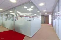 Clear Glass Wall Partition, For Office, Size/Dimension: 12mm