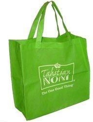 Green Printed Loop Handle Bag