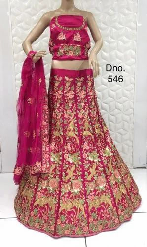 Party Wear Semi Stitched Heavy Embroidered Lehenga Choli With Beautiful Design
