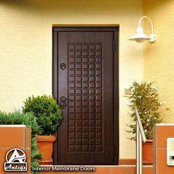 7 Feet Brown Decorative Interior Membrane Doors, Door Thickness: 1.5 Inch