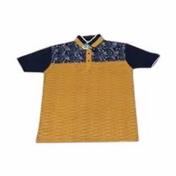 Cotton Mens Half Sleeve Collar Neck T Shirt