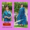 Printed Rayon Box Gown