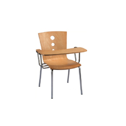 Wood Full Writing Pad Chair