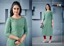 Meerali Swara 1-Tc Rayon Straight Cut Kurtis Collection
