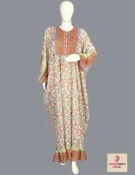 10 Cotton Hand Printed Women's Long Dress India DB18
