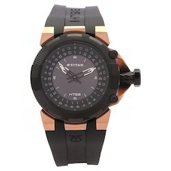 Black Dial Plastic Strap Watch