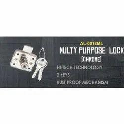 Stainless Steel AL-0013ML Multi Purpose Door Lock, For Doors