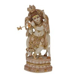 FRP Krishna Statue in Antique Pattern