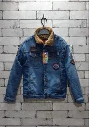 Blue Kids Denim Jacket, Full Sleeves