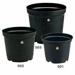 5.0 Inch Plastic Black Nursery Planters, For Garden