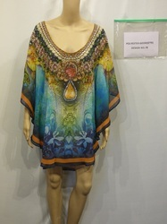 Round Neck Digital Printed Kaftan