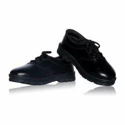 Boys Black Leather School Shoes, Size: 5-7