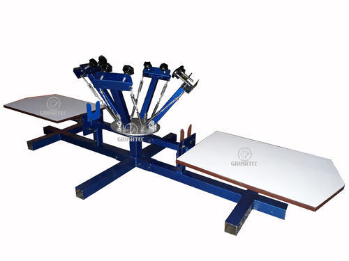 5286a46f Manual Four Color Two Station Screen Printing Machine, Rs 17400 ...