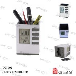 Giftmart Abs Plastic Digital Clock Pen Holder