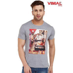 Half Sleeve Casual Wear Graphic Printed Round Neck T Shirt For Men