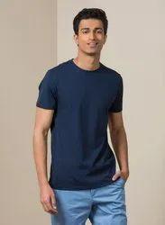 Casual Wear Plain Mens Round Neck Supima Cotton T Shirt