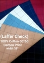 Carbon Finish Shirting Fabric (Laffer Check)