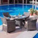 Gebe Outdoor Dining Set (wicker)