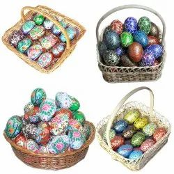 Hand Painted Easter Decorative Wooden Eggs