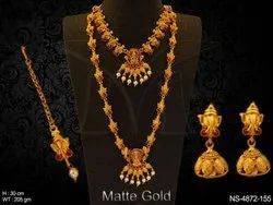 Long Haram Kemp Temple Necklace