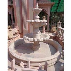 Pink Sandstone Fountain