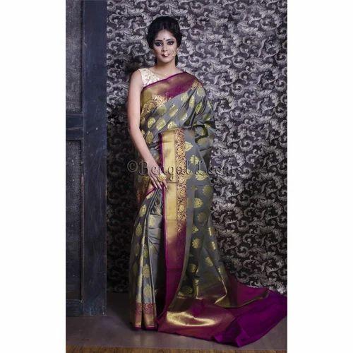 bf87e94ded8a1c Art Silk Banarasi Saree in Gray and Purple at Rs 3950 /piece | Art ...