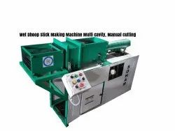 Multi Cavity Manual Cutting Wet Dhoop Stick Making Machine