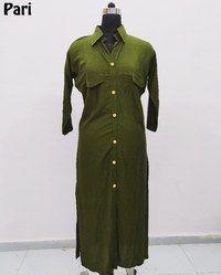 Stylish Long Rayon Kurti