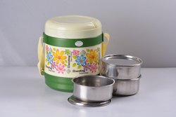 BHARAT Plastic Lunch Box Designer 3 Star, Capacity: 220 Ml, Size: 800 Ml