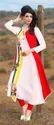 White And Red Kurti